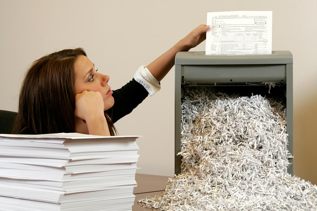 dokumentų naikinimas