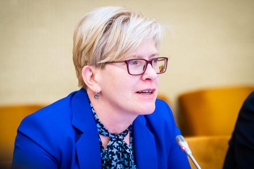 """Seimo Audito komiteto pirmininkė I. Šimonytė: """"Turėtume keisti požiūrį, kaip kalbame apie šešėlį ir kokias priemones su juo kovoti kuriame"""""""