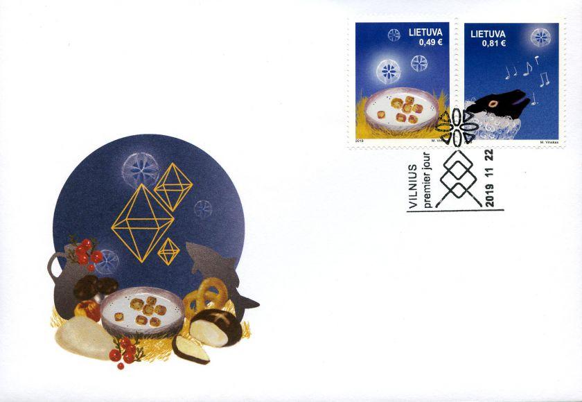 Išleidžiami šventiniai pašto ženklai