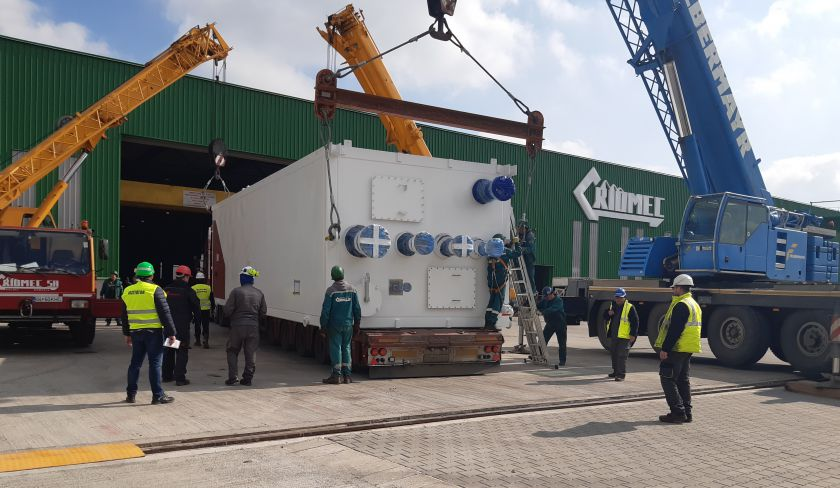 Į Lietuvą gabenamas nestandartinio svorio ir gabaritų krovinys