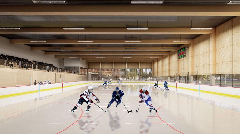 Planuojamas Klaipėdos sporto ir laisvalaikio centras: ledo arena, penkios universalios aikštelės ir čiuožykla terasoje