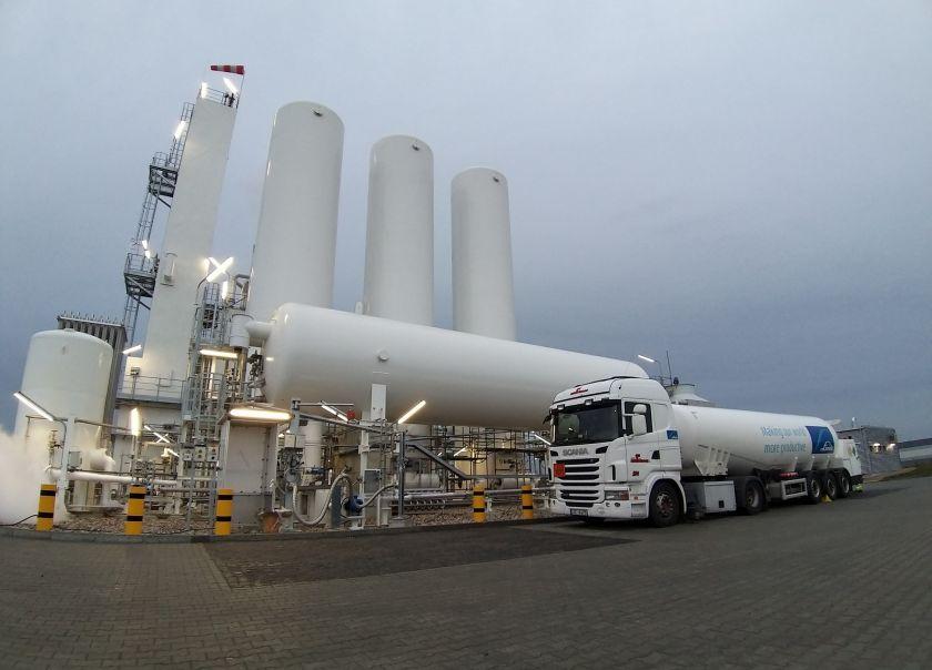 """Linde Gas"" oro skaidymo gamykla pradeda gamybą"