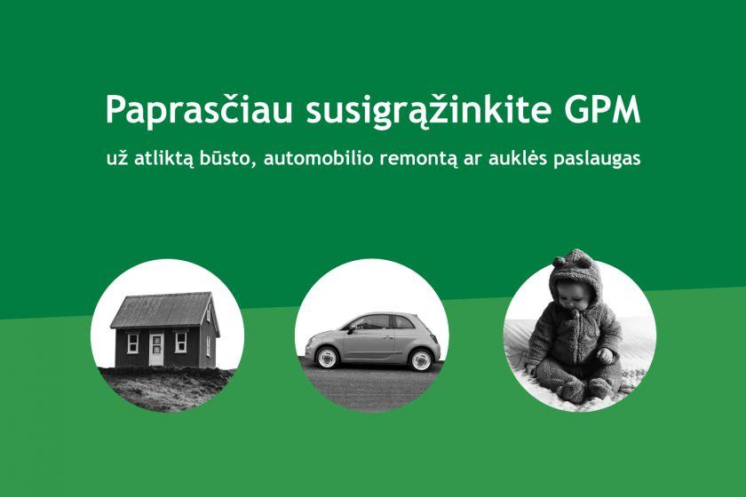 Susigrąžinti GPM už praėjusiais metais suteiktas paslaugas gyventojai galės paprasčiau