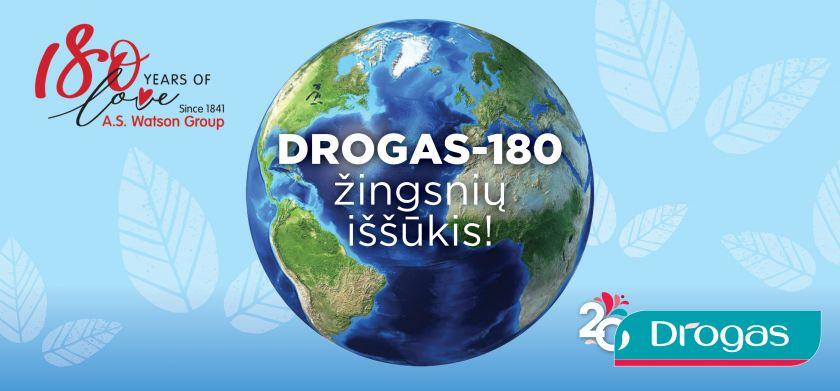 DROGAS skelbia naują žingsnių iššūkį – DROGAS-180