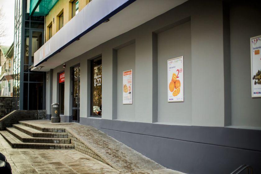 """Uždaroma Vilniuje, M.K. Čiurlionio gatvėje, įsikūrusi """"Maxima X"""" parduotuvė"""