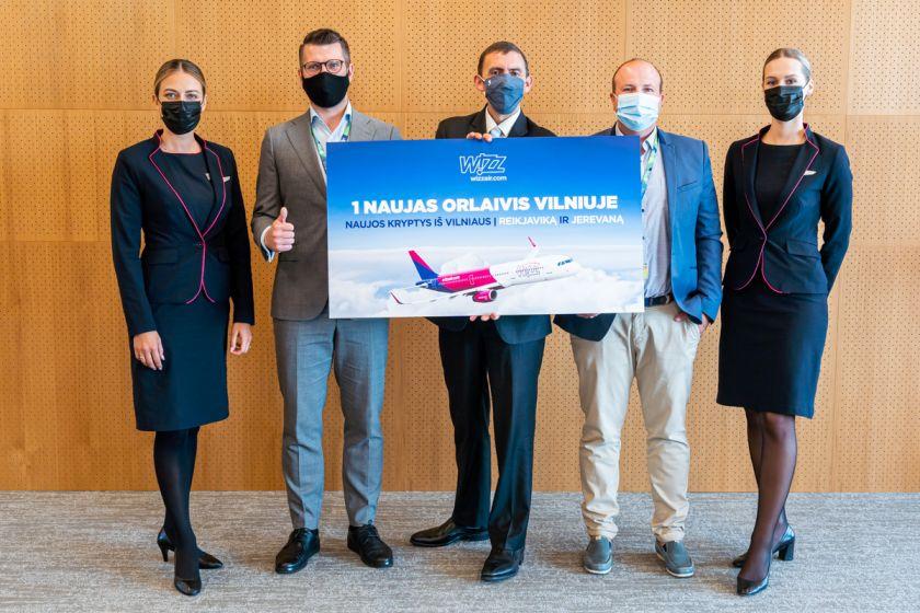 """Wizz Air"" Vilniuje bazuos trečią lėktuvą, pristato dvi naujas kryptis"